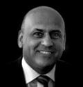 A black and white portrait photo of Abdullah Ali Ahmadi