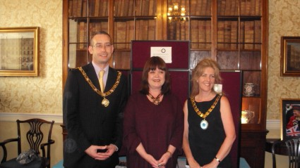 Photo of The Mayor of Bath Cllr. Shaun McGall, Lizzie Davies and Cllr. Sarah Bevan