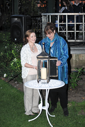 Margaret & Lizzie light a Candle of Peace